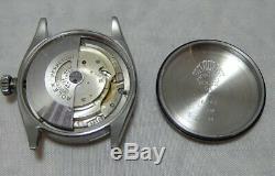 Rolex Oyster Perpetual Bubbleback SS Mens Watch Model 6284 On Lamb Strap 1955