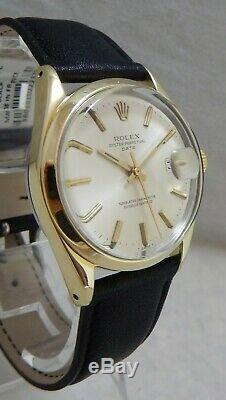 Rolex Oyster Perpetual Date Gold Capped SS Mens Watch Orig Dial Model 1550 1974