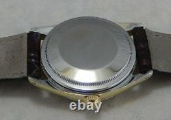 Rolex Oyster Perpetual Date Ultra Rare Gold Capped Mens Watch Model 1550 1974