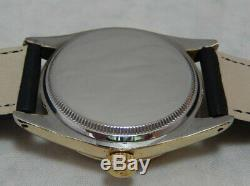 Rolex Oyster Perpetual Gold Capped Model 6634 Mens Watch On Lamb Strap 1954