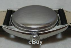 Rolex Perpetual Bubbleback SS Mens Watch 6085 Lamb Band, Refurbished Dial, 1951