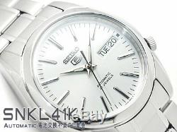 SEIKO 5 SNKL41 SNKL41K1 21 Jewels Automatic White Ready to Ship last one