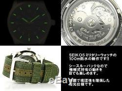 SEIKO 5 SNZG09 SNZG09K1 Military Army Nylon Original Box Automatic