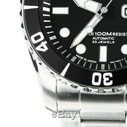 SEIKO 5 Sports SNZF17 SNZF17J1 Japan Black Dial Sea Urchin Mens Watch Automatic