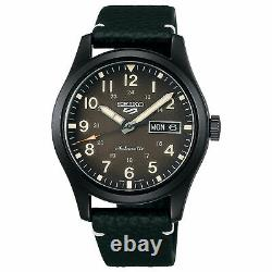 SEIKO 5 Sports SRPG41K1 Automatic Brown Dial Black Leather Strap Watch WARRANTY