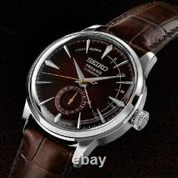 SEIKO Presage SSA393J1 Automatic Cocktail Japan Made Dark Red/Brown Baselworld