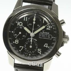 SINN 103 Day-Date Chronograph Automatic Leather Belt Men's Watch 470178