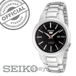 Seiko 5 Automatic Black Dial Silver Stainless Steel Mens Watch SNKA07K1 RRP £169