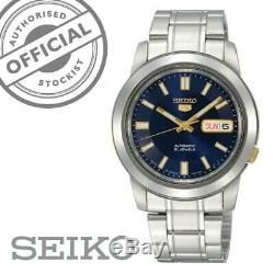 Seiko 5 Automatic Blue Dial Silver Stainless Steel SNKK11K1 Mens Watch RRP £169