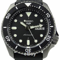 Seiko 5 Sports Black Dial Strap Automatic Mens Watch SRPD65K3 RRP £280