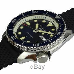 Seiko 5 Sports Blue Dial Silicone Strap Automatic Men's Watch SRPD71K2 RRP £250