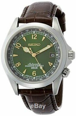 Seiko Alpinist Automatic Movement Green Dial Men's Watches SARB017