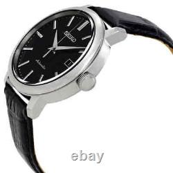 Seiko Classic Automatic Black Dial Black Leather Men's Watch SRPA27