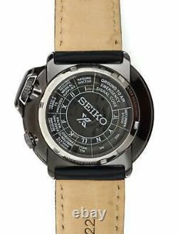 Seiko Men's Prospex Automatic Black Dial Black Leather Watch SRPD35K1 NEW