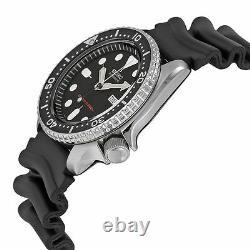 Seiko SKX007 Automatic Black Dial Rubber Strap 200m Scuba Diver Watch SKX007K1