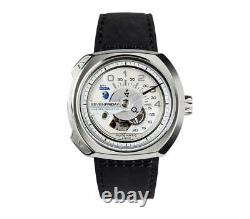 SevenFriday Automatic Men's Stainless Steel Leather Strap Watch V1/01 Steamer