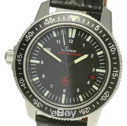 Sinn EZM3 603 Date Automatic Leather Belt Men's Wrist Watch 491403