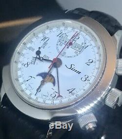 Sinn Triple Calendar Chronograph Moon Phase Ref 6026 ST Swiss Automatic Valjoux