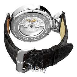 Stuhrling 127A2 33152 Emperor Grand Dual Time Automatic Moon Display Mens Watch