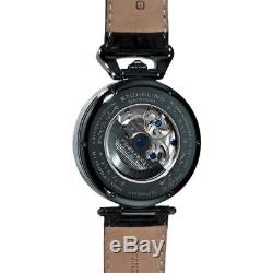 Stuhrling 127A2 33X52 Emperor Grand Dual Time Automatic Moon Display Mens Watch