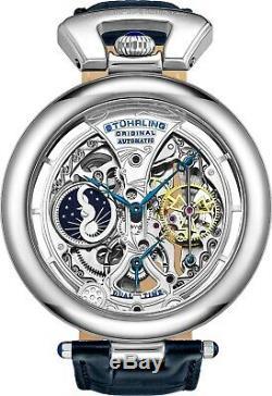 Stuhrling Emperors Grandeur 3919 Automatic 49mm Men's Skeleton Dual Time Watch