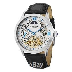 Stuhrling Original 571 33152 Tempest II Automatic Skeleton Dual Time Mens Watch