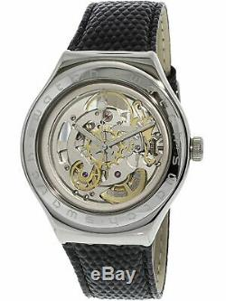 Swatch Men's Body And Soul YAS100D Silver Leather Automatic Fashion Watch