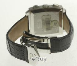 TAG HEUER Monaco Chronograph CW2113 Automatic Leather Belt Men's Watch 495498