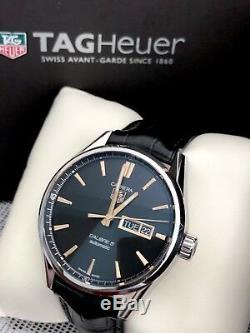 TAG Heuer Carrera 41mm Day Date Calibre 5 Automatic Mens Watch WAR201C MINT