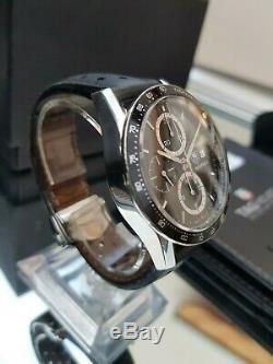 TAG Heuer Carrera CV2010 Automatic Chronograph Black Leather Strap