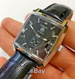 TAG Heuer Men's WW2110 Monaco Automatic Leather Strap Watch