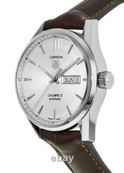 Tag Heuer Men's WAR201B. FC6291'Carrera' Automatic Brown Leather Watch