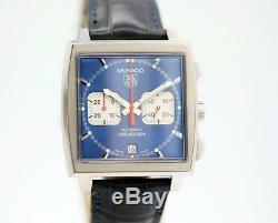 Tag Heuer Monaco CW2113-0 Steve McQueen Navy Blue Chrono Automatic Men's Watch