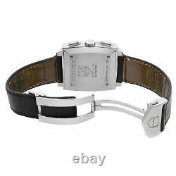 Tag Heuer Monaco Chronograph Steel Black Dial Automatic Mens Watch CW2111. FC6171