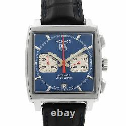 Tag Heuer Monaco Square Blue Dial Steel Automatic Mens Watch CW2113. FC6183