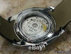 Tissot Swiss Made Mens 41mm Automatic Day Date Stainless St Luxury Watch N52