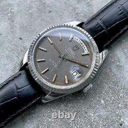 Tudor 38mm Jumbo 7019 /4 Oyster Prince Day Date Automatic Metallic Grey Dial