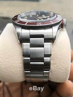 Tudor Heritage Black Bay Red Bezel SS Bracelet Automatic Men Watch 79230R-0004