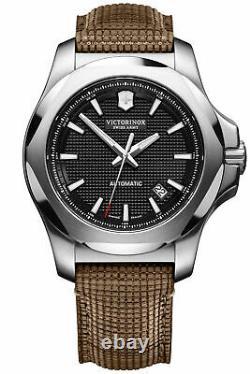 Victorinox Swiss Army INOX Automatic Black Dial Wooden Strap Men's Watch 241836