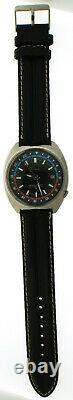 Vintage 1970s Seiko Navigator Timer GMT Watch 6117-6410 Pilot Date Automatic