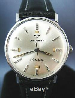 Vintage Longines Wittnauer Stainless Steel Automatic Mens Watch 17J 11SR 1960s