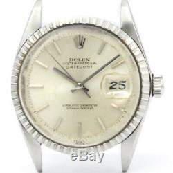 Vintage ROLEX Datejust 1601 Steel Automatic Mens Watch Head Only BF507354
