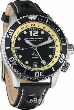 Vostok Amphibia Reef 080481 Russian Mens Automatic Diver 200m WR Watch New Black