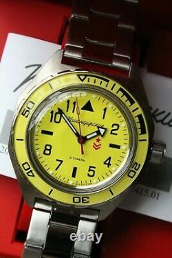 Vostok Komandirskie Military Mechanical Automatic Russian wrist watch 650859
