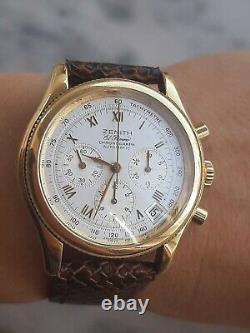 Zenith El Primero Watch Chronograph Automatic Cal. 400 Gold 18k Mens 06-0210-400
